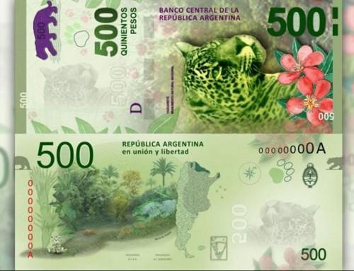 El Yaguareté, imagen de los nuevos billetes de $500 en la Argentina